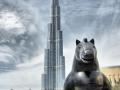 Фото Бурдж Дубая и статуй
