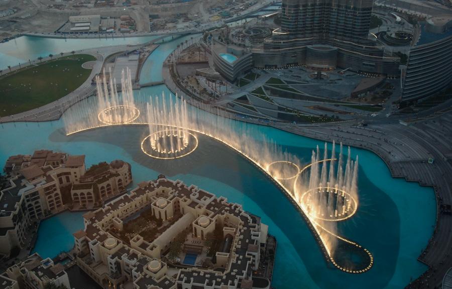 Музыкальный фонтан в Дубае — волшебный танец воды и светам