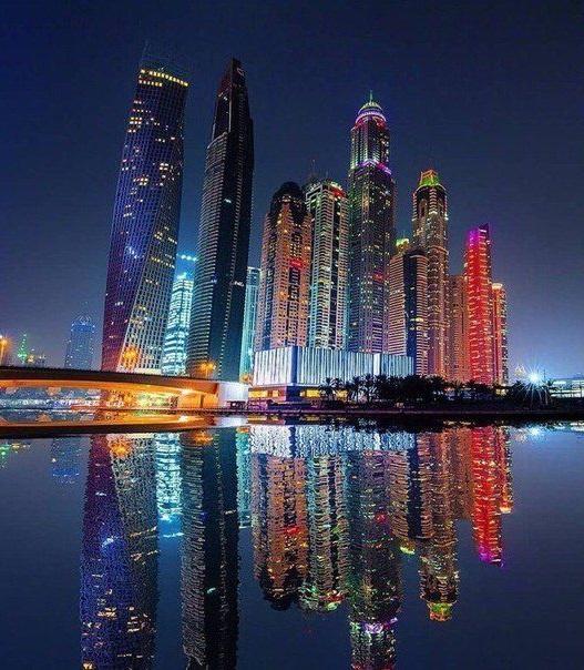 Ночной Дубай, фото